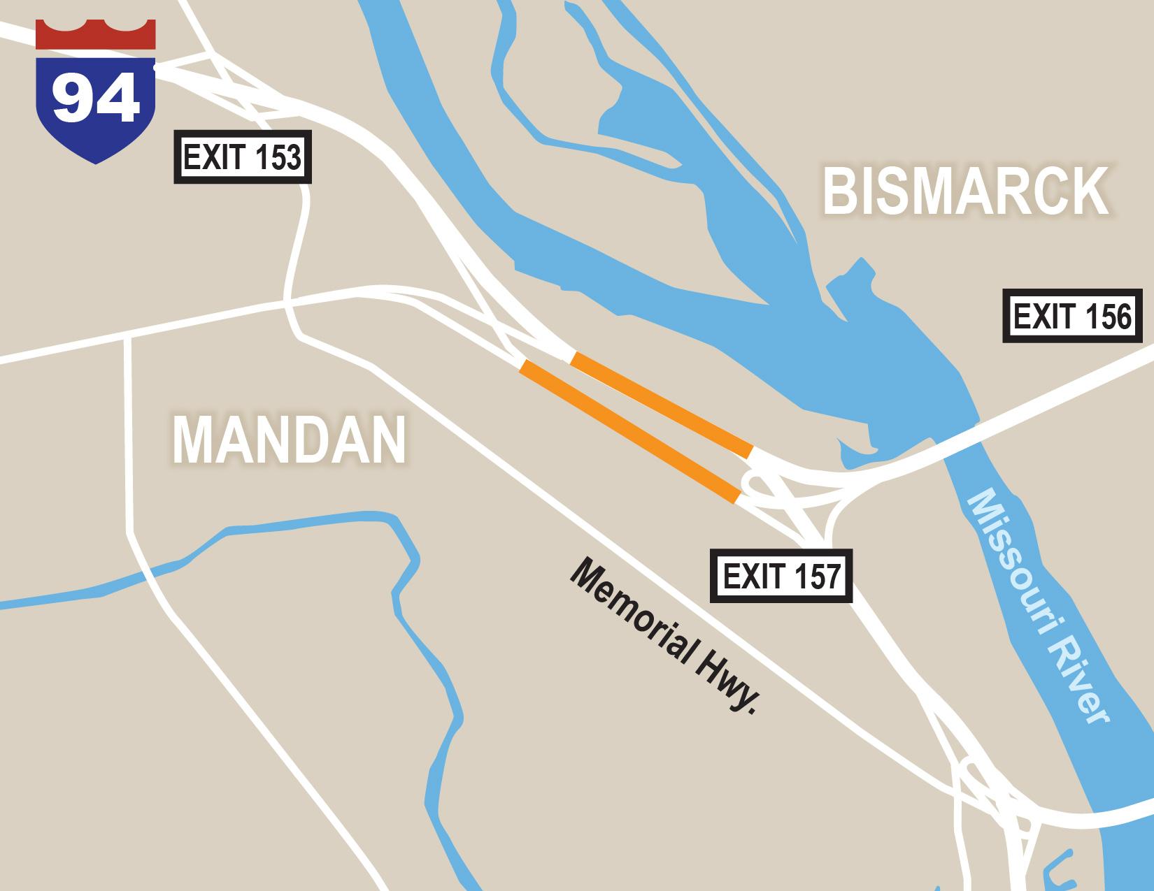 NDDOT - I-94 Mandan & Bismarck Expressway